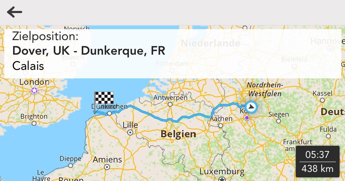 Bild der Route nach Dünnkirchen